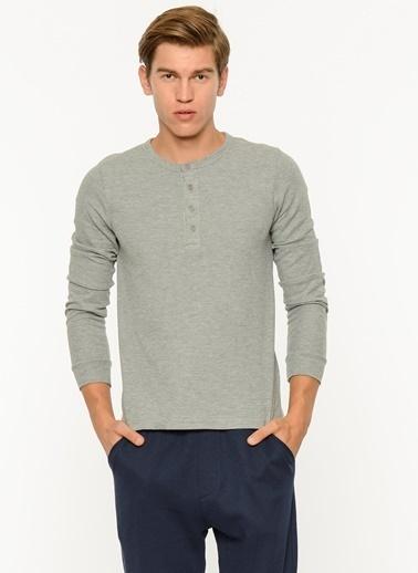 Koton Fermuarlı Kapüşonlu Sweatshirt Gri